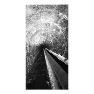 Tunnel in black and white photo card