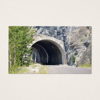 Tunnel in Glacier Park Business Card