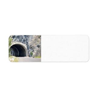Tunnel in Glacier Park Label