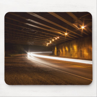 Tunnel Light Painting Mouse Pad