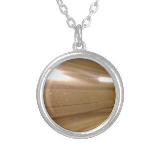 Tunnel Lights Round Pendant Necklace