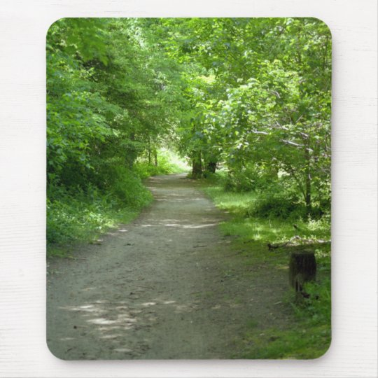 Tunnel of Leaves Mouse Pad