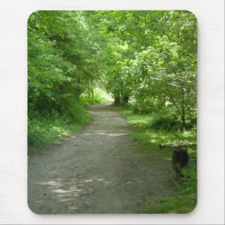 Tunnel of Leaves Mouse Pad mousepad