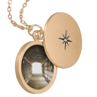 Tunnel of Light Gold Plated Necklace