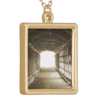 Tunnel of Light Square Pendant Necklace
