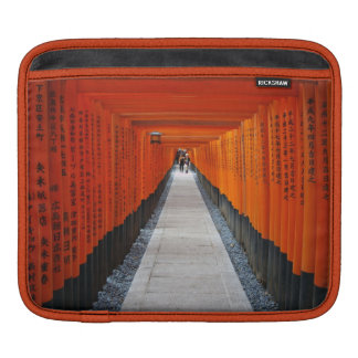 Tunnel of red shrine gates at Fushimi Inari, Kyoto Sleeve For iPads