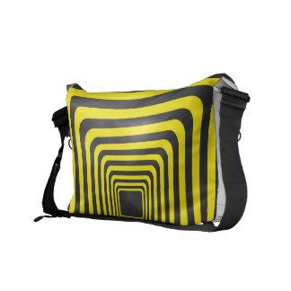 Tunnel on black and yellow messenger bag