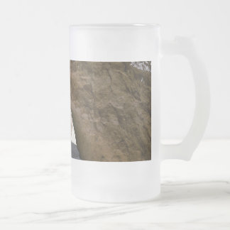 Tunnel on the peekaboo loop trail in Bryce Canyon Frosted Glass Beer Mug