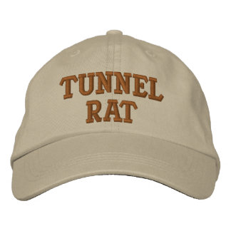 TUNNEL RAT VIETNAM EMBROIDERED BASEBALL HAT
