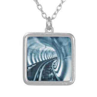 Tunnel Silver Plated Necklace