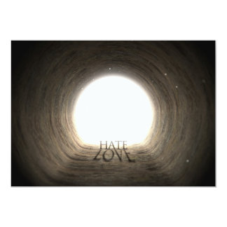 Tunnel Text and Shadow Concept - Hate & Love Card