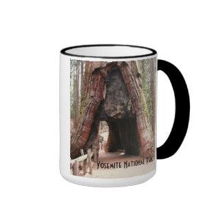 Tunnel Tree- Yosemite Ringer Coffee Mug