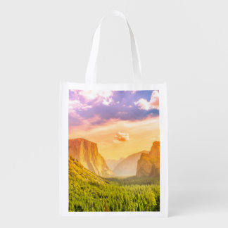 Tunnel View of Yosemite National Park Grocery Bag