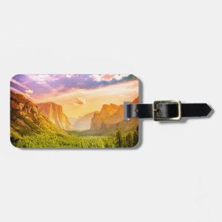 Tunnel View of Yosemite National Park Tag For Luggage