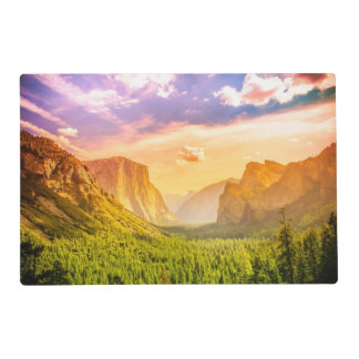 Tunnel View of Yosemite National Park Laminated Place Mat