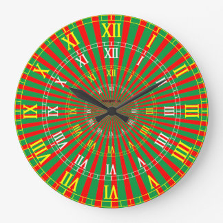 Tunnel Vision Melon Large Clock