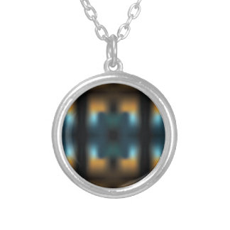 TUNNEL VISION SQUARED SILVER PLATED NECKLACE