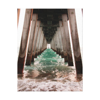 Tunnel Vision Under the Pier Canvas Print