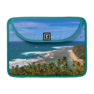 Tunnels Beach as seen from the Kalalau Trail MacBook Pro Sleeves