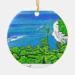 Tunnels Kauai Christmas Tree Ornaments