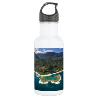 Tunnels Reef on the Hawaiian Island of Kauai Stainless Steel Water Bottle