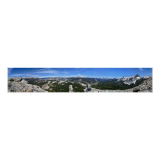 Tuolumne Meadows Panorama from Fairview Dome - Yos Poster