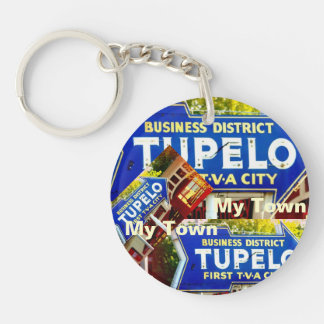 Tupelo, Mississippi - My Town! Keychain