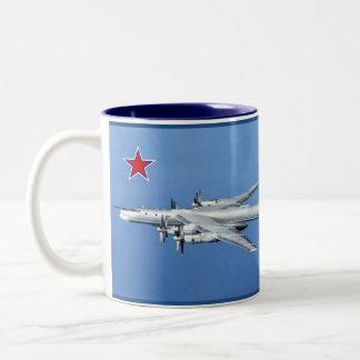 """Tupolev 95 """"Bear"""" Bomber Mug Two-Tone Mug"""