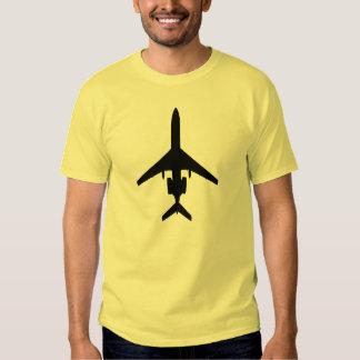 Tupolev Tu-154 silhouette aviation t-shirt dark