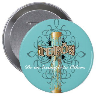 Tupos Gold Dripping Cross Button