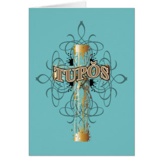 Tupos Gold Dripping Cross Card
