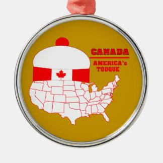 Tuque fresco de Canadá - de América Adorno Redondo Plateado