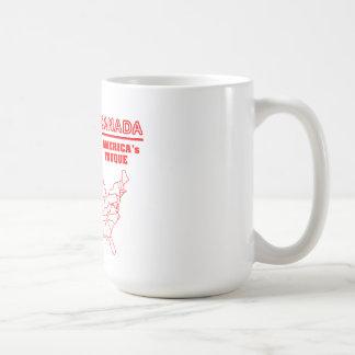Tuque fresco de Canadá - de América Tazas De Café
