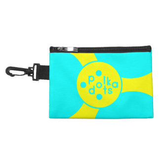 Tuquoise and Sunshine Yellow Clip on Accessory Ba Accessory Bags