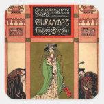 Turandot, a Puccini Opera Square Sticker