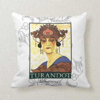 Turandot Opera Throw Pillow