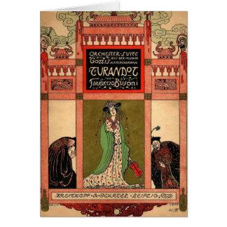Turandot, una ópera de Puccini Tarjeta De Felicitación