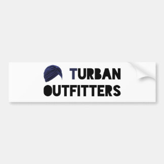 Turban Outfitters Sicker Car Bumper Sticker
