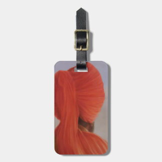 Turbaned backview with tenting bag tag