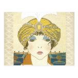 Turbaned Poiret 1900s Fashion Illustration Postcards