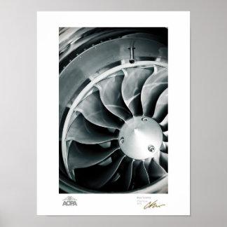 Turbina azul poster