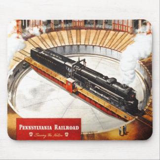 Turbina de vapor del ferrocarril de Pennsylvania Mouse Pads