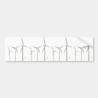 Turbina de viento pegatina para auto
