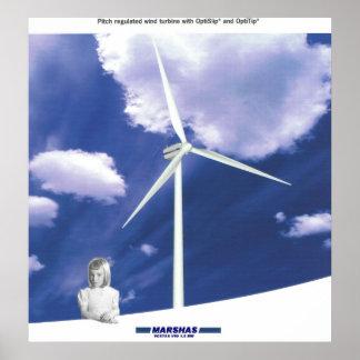 Turbina de viento de VESTAS V-80 Poster