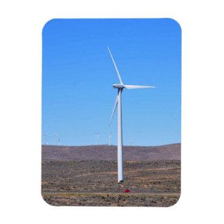 Turbina de viento en WA del este Imanes De Vinilo