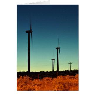 Turbina de viento en WA del este Tarjeta De Felicitación