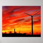 Turbina de viento impresiones