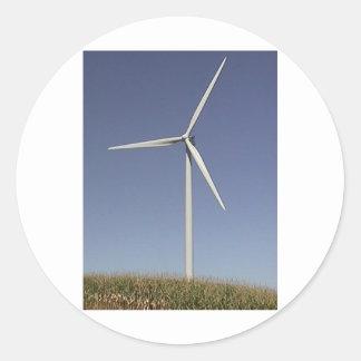 Turbina de viento pegatinas redondas