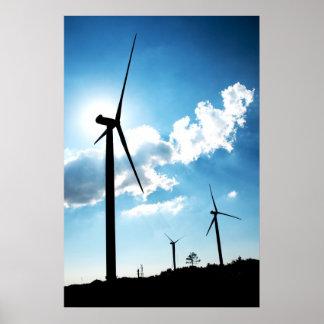Turbina de viento póster