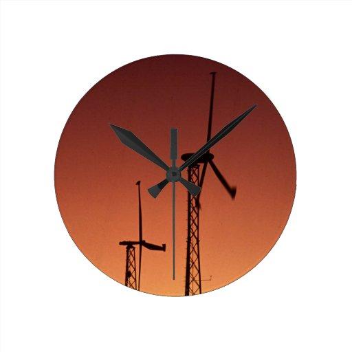 Turbina de viento reloj de pared